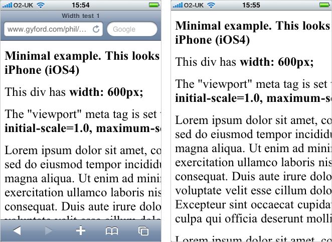 First two iPhone screenshots