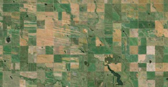 Satellite view of part of South Dakota