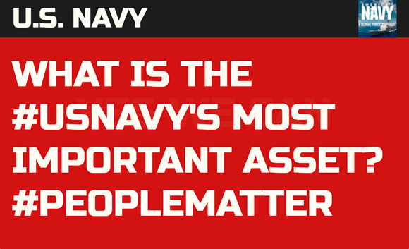 U.S. Navy: What is the #USNavy's most important asset? #PeopleMatter