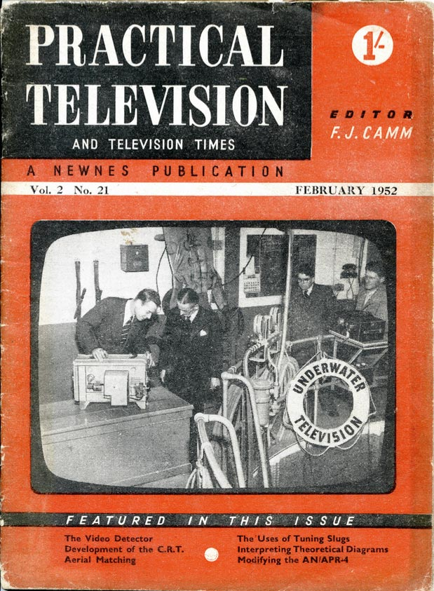 Cover of Practical Television, February 1952