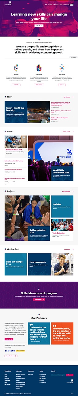 Small screenshot of the WorldSkills.org home page